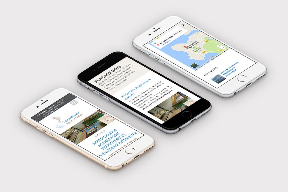 création site responsive design menuiserie